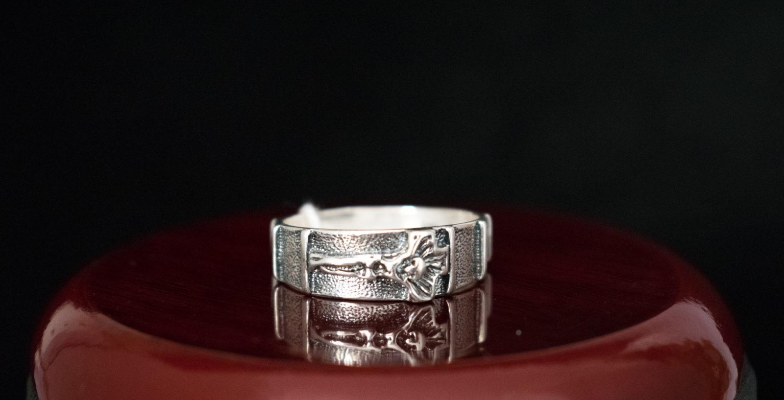 dziesiątka na palec srebrna