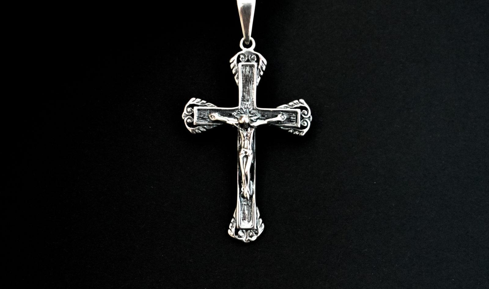 krzyżyk srebrny, zawieszka