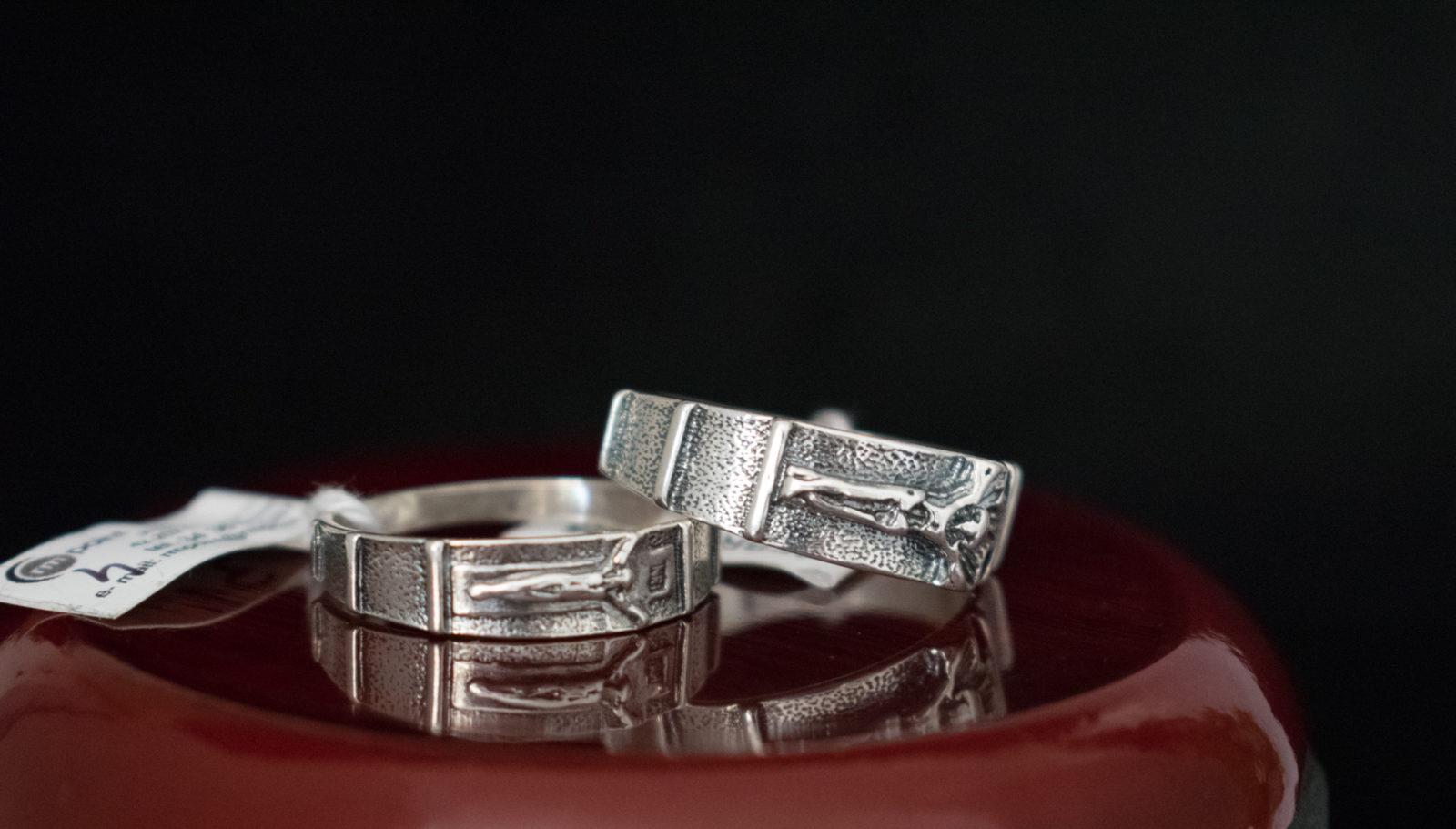 dziesiatka srebrna na palec