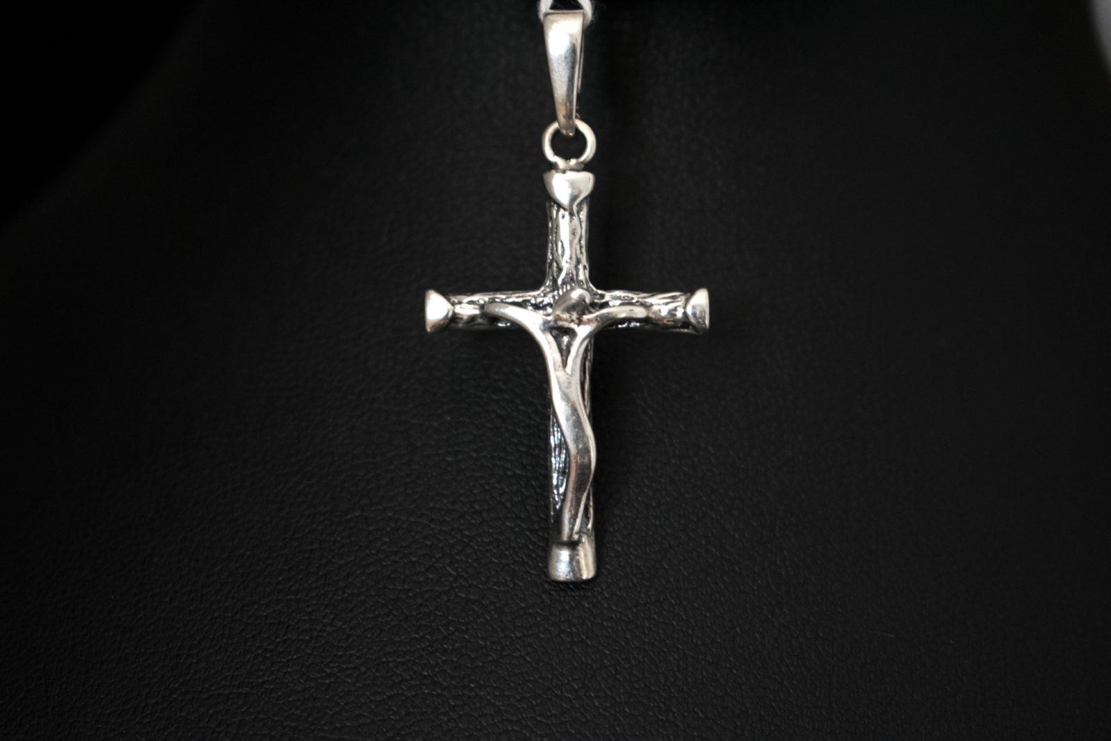 Krzyżyk zawieszka srebrny