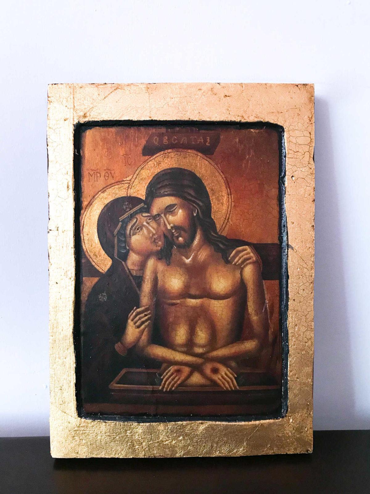 Ikona Pisana Nie płacz po Mnie Matko, Pieta